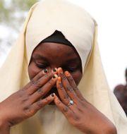 En skolelev som undkom kidnappningen i Jangebe under gårdagen. Ibrahim Mansur / TT NYHETSBYRÅN