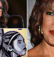 Oprah Winfrey/Muralmålning föreställande Kobe Bryant och dottern Gianna/Gale King.