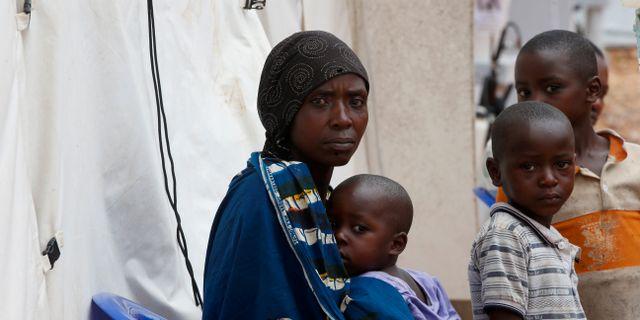 Patienter på ett behandlingscenter i Butembo.  Baz Ratner / TT NYHETSBYRÅN