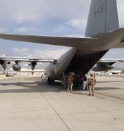 Evakuering till Sverige från Kabul.  Försvarsmakten / TT NYHETSBYRÅN