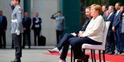Mette Frederiksen och Angela Merkel. TOBIAS SCHWARZ / AFP