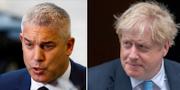 Brexitministern Stephen Barclay och Storbritanniens premiärminister Boris Johnson.  TT