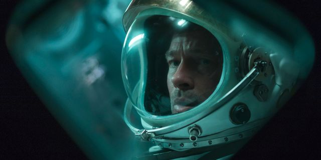 """En scen ur filmen """"Ad Astra"""" med Brad Pitt. Francois Duhamel / TT NYHETSBYRÅN"""