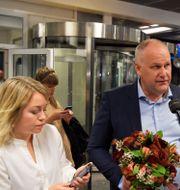 Vänsterpartiets partiledare Jonas Sjöstedt (V) efter söndagens partiledardebatt i Agenda i SVT.  Jessica Gow / TT NYHETSBYRÅN