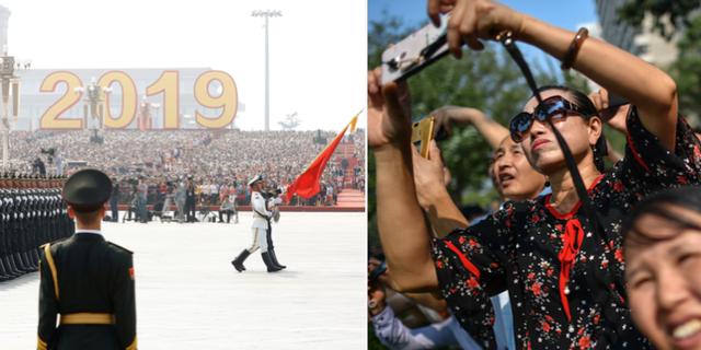 Dagens parad i Peking. TT