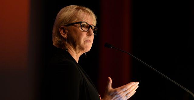 Utrikesminister Margot Wallström (S). Stina Stjernkvist/TT / TT NYHETSBYRÅN