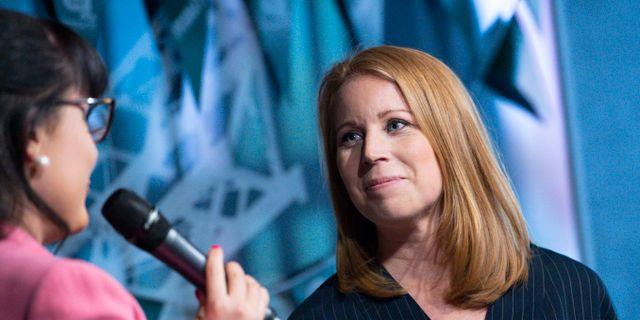 Centerpartiets ledare Annie Lööf. Johan Nilsson/TT / TT NYHETSBYRÅN