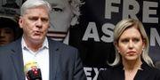 Kristinn Hrafnsson till höger. TOLGA AKMEN / AFP