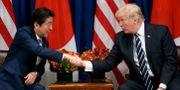 Arkivbild. Japans premiärminister Shinzo Abe och USA:s president Donald Trump. Evan Vucci / TT / NTB Scanpix