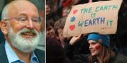 Frans Timmermans/klimatdemonstration i Belgien. TT