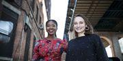"""Journalisterna Christina Ayele Djossa-Ahoeletes och Violeta Isabel dos Santos Moura fick årets stipendier från """"KimWallMemorial Fund"""". Pontus Höök/TT"""
