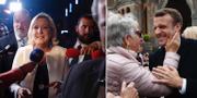 Marine Le Pen och Emmanuel Macron. TT