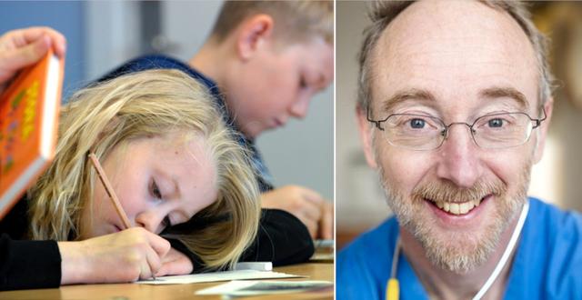 Illustrationsbild av skolbarn/Jonas Ludvigsson  TT/Gustav Mårtensson, KI