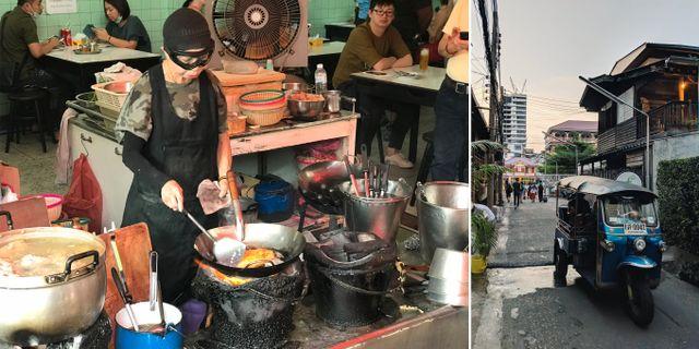 70-åriga street food-legenden Jay Fai bossar i köket på den nya Michelinkrogen med samma namn. Sais Isa/Wikicommons | Ingo Joseph/Pexels
