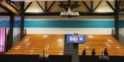 Lokalerna ekade tomma när Biden tvingades ställa in.  JOE RAEDLE / TT NYHETSBYRÅN