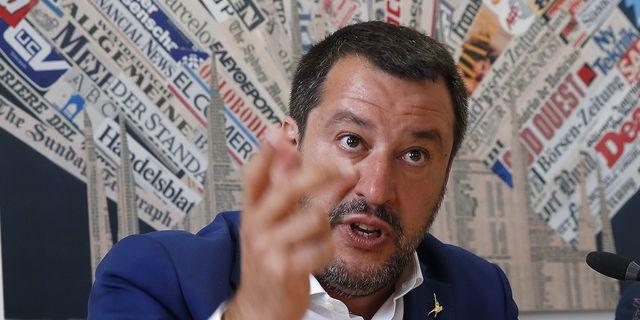 Matteo Salvini, Italiens inrikesminister.  TT