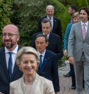 G7-ledarna under mötet i Cornwall.  Jack Hill / TT NYHETSBYRÅN