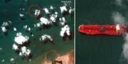Bilder tagna på det beslagtagna fartyget Stena Impero. TT