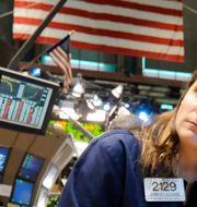 Börsmäklare på Wall Street.  Richard Drew / TT NYHETSBYRÅN