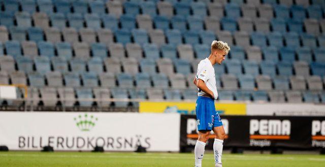 Norrköpings Pontus Almqvist besviken efter matchen mot Hammarby i veckan. Stefan Jerrevång/TT / TT NYHETSBYRÅN