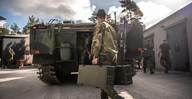 Arkivbild från 2020. Marktrupper på Gotland i försvarsmaktens beredskapsinsats kring Östersjön. Bezhav Mahmoud/Försvarsmakten / TT NYHETSBYRÅN