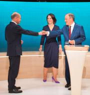Jonas Gahr Støre/De tyska kandidaterna i tv-debatt.  TT
