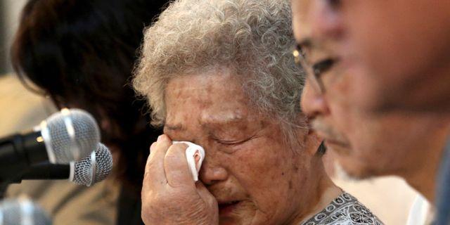 Kim Jeoung-ju tvingades tvångsarbeta under andra världskriget. Ahn Young-joon / TT NYHETSBYRÅN