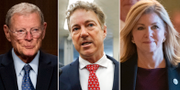 Jim Risch, Rand Paul och Marsha Blackburn. TT