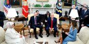 Emine Erdogan och Recep Tayyip Erdogan i Vita huset. TOM BRENNER / TT NYHETSBYRÅN