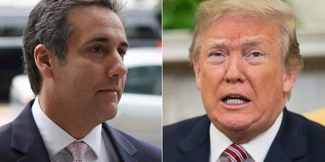 Michael Cohen och Donald Trump.  NICHOLAS KAMM / AFP
