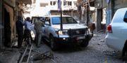 FN anländer till belägrade områden i Homs STRINGER / TT NYHETSBYRÅN