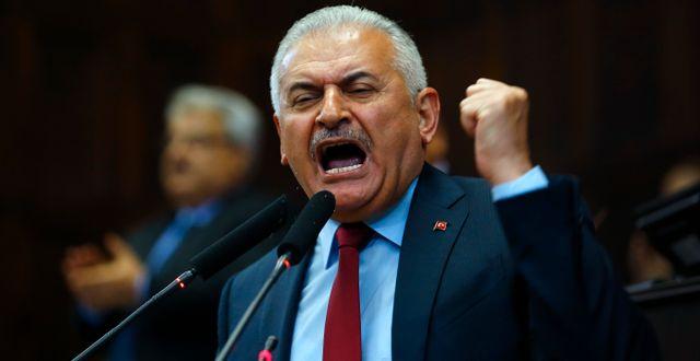 AKP-partiets ledare, premiärminister Yildirim UMIT BEKTAS / TT NYHETSBYRÅN