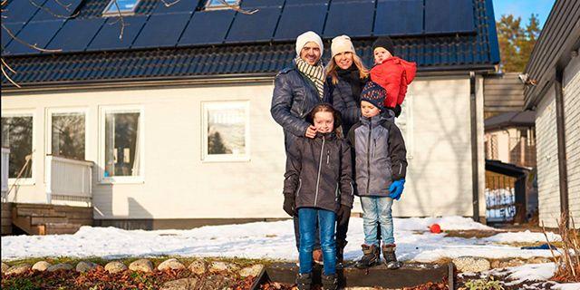Familjen Batista sparar omkring 7 000 kWh per år tack vare solcellerna på taket.
