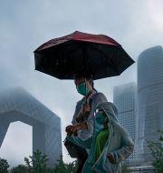 Pekings affärsdistrikt, juli 2021. Andy Wong / TT NYHETSBYRÅN