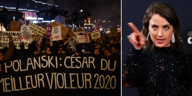 Protester utanför Cesárgalan /Adèle Haenel TT