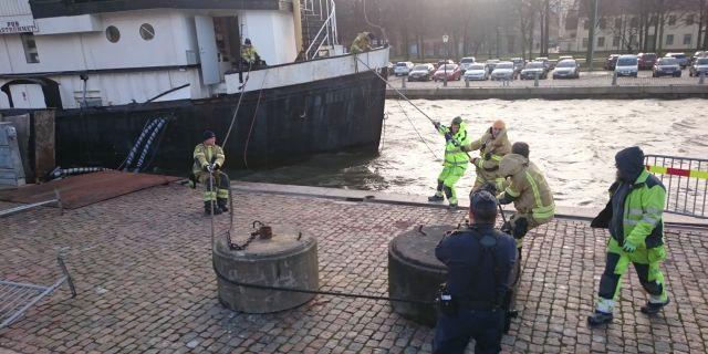 Tvingades avbryta pa grund av oversvamning