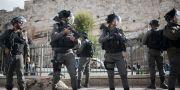 Israeliska soldater utanför Jerusalems gamla stad.  Ariel Schalit / TT / NTB Scanpix