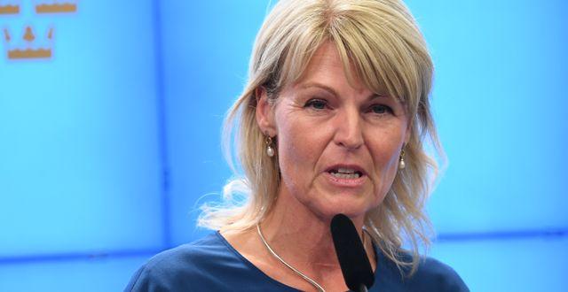 Utrikeshandelsministern Anna Hallberg, S.  Jonas Ekströmer/TT / TT NYHETSBYRÅN
