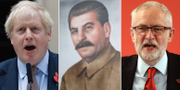 Boris Johnson/Jose Stalin/Jeremy Corbyn. TT