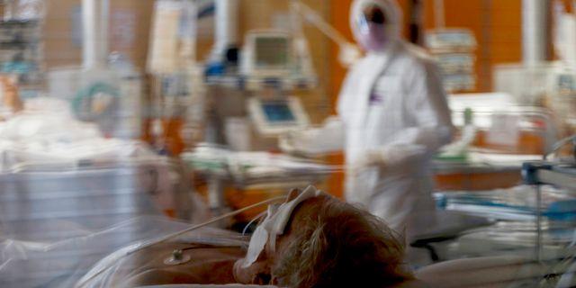 Intensivvårdsavdelning på sjukhus i Rom. Cecilia Fabiano / TT NYHETSBYRÅN