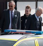 Staffan de Mistura (t h), FN:s sändebud i Syrien , och FN:s säkerhetsråd lämnar på söndagen Dag Hammarskjölds Backåkra efter ett tvådagarsmöte. Johan Nilsson/TT / TT NYHETSBYRÅN