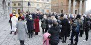 I vintras hölls en demonstration i Stockholm med anledning av den friande domen i tingsrätten. Christine Olsson/TT / TT NYHETSBYRÅN