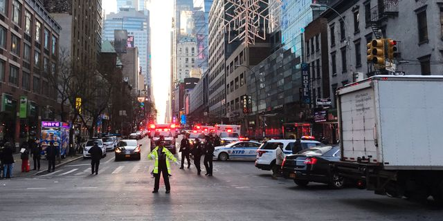 En gripen efter dodsfall i city