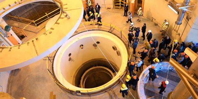 Bild från reaktorn Arak i Iran.  TT NYHETSBYRÅN
