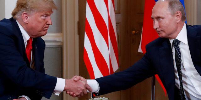 Trump och Putin. Kevin Lamarque / TT NYHETSBYRÅN