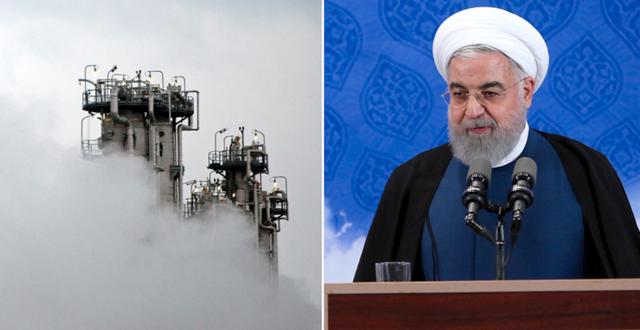 Kärnkraftverk i Arak, Hassan Rouhani.  TT
