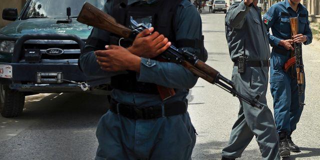 Arkivbild. Afghanska säkeherhetsstyrkor.  Rahmat Gul / TT NYHETSBYRÅN