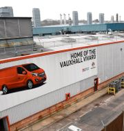 Peugeots Vauxhall-fabrik i brittiska Luton. TOBY MELVILLE / TT NYHETSBYRÅN