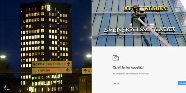 Bonnierhuset/Aftonbladet/skärmdump från attacken. TT