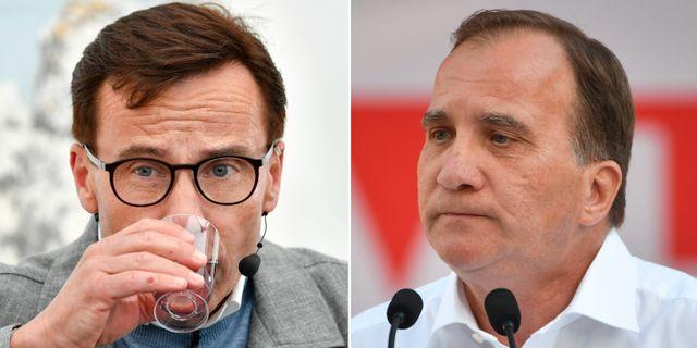 M-ledaren Ulf Kristersson och statsminister Stefan Löfven (S). TT